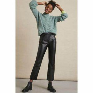 NWT Anthro Lettie Straight Faux Leather Pants